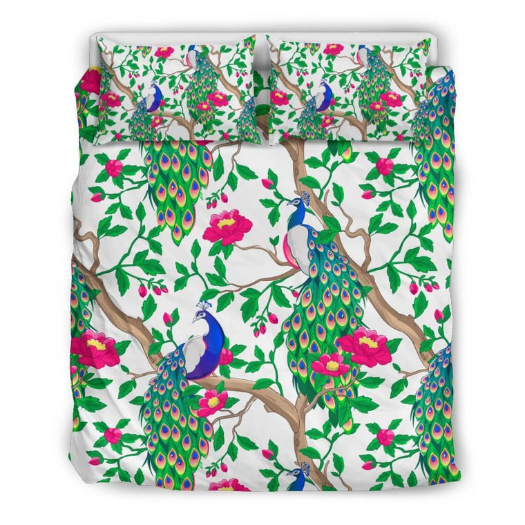 Bedding Set - Beautiful Peacock Bedding Set