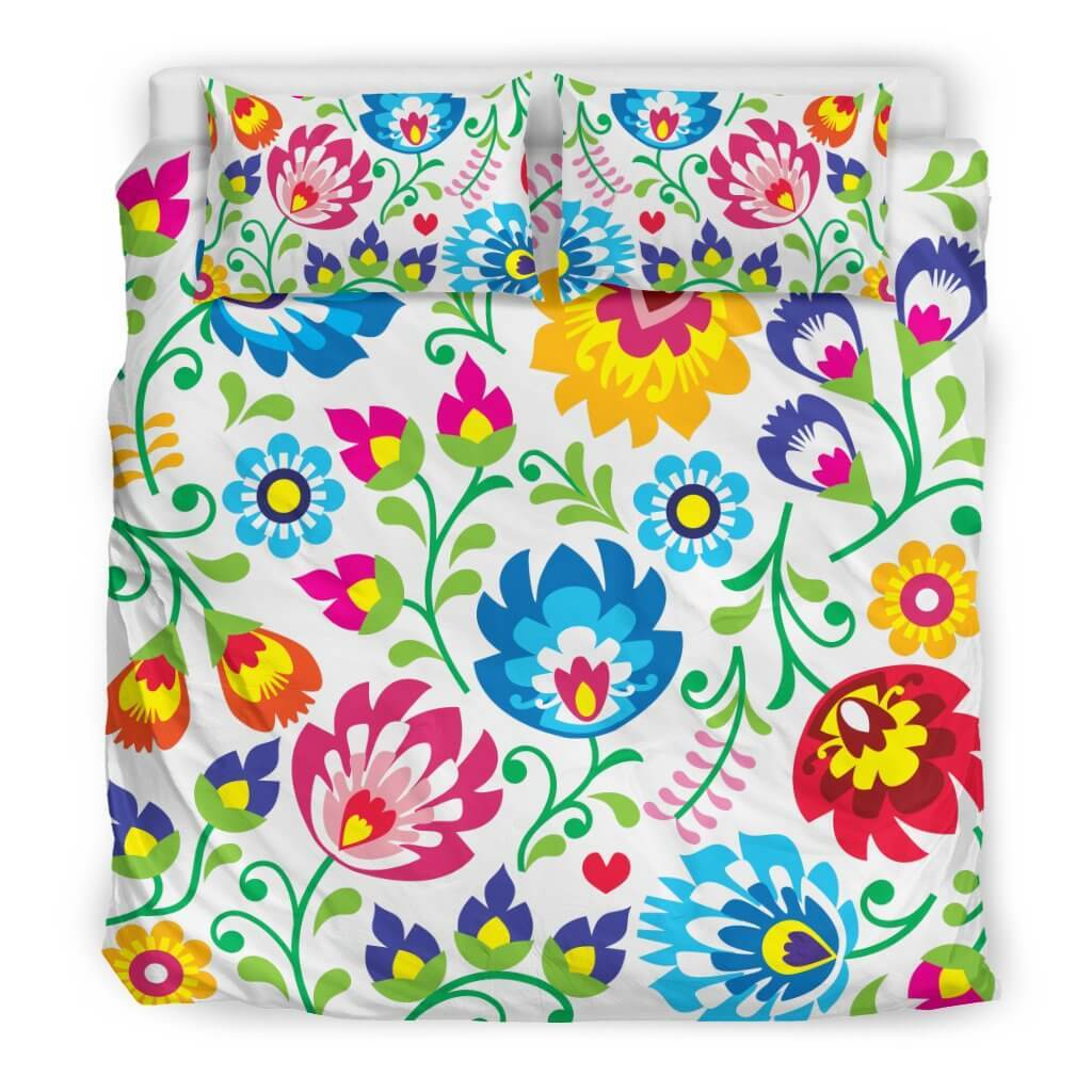 Bedding Set - White Floral Bedding Set
