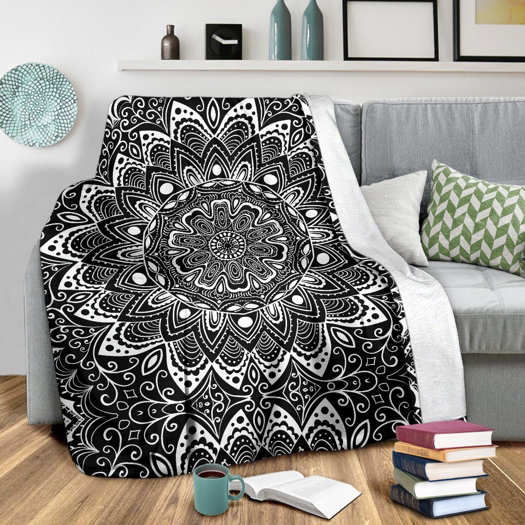 Black And White Premium Blanket