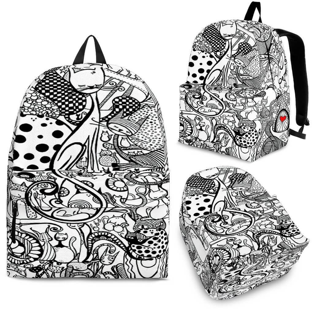Black & White Cats Backpack