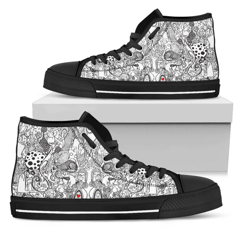 Black & White Cats High Top