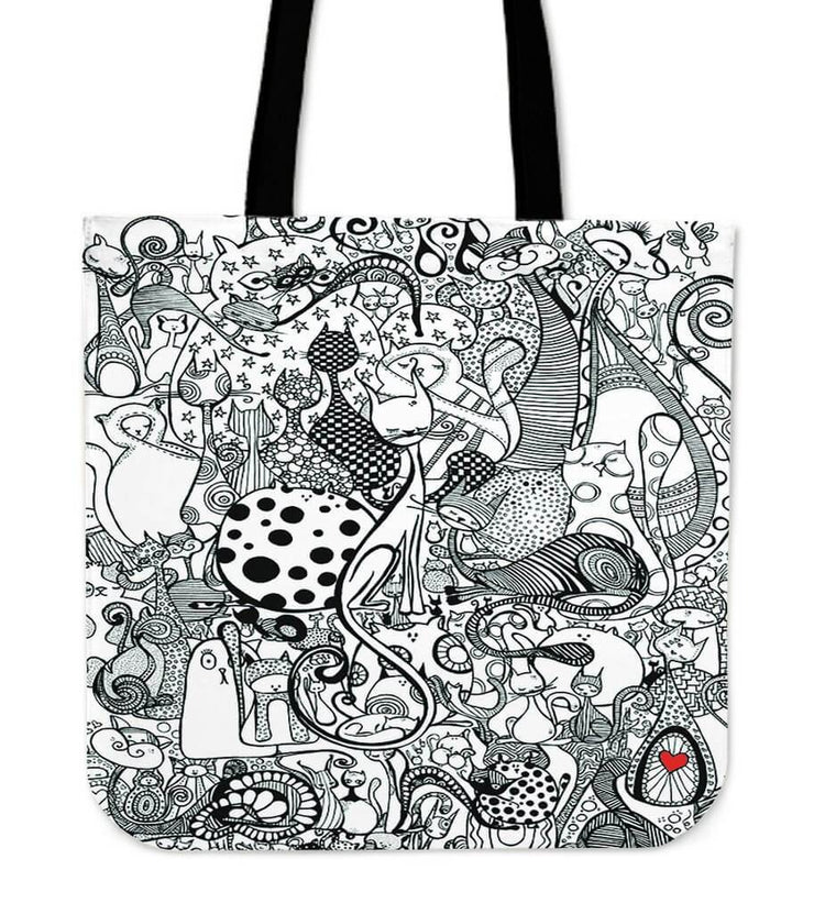 Black & White Cats Tote