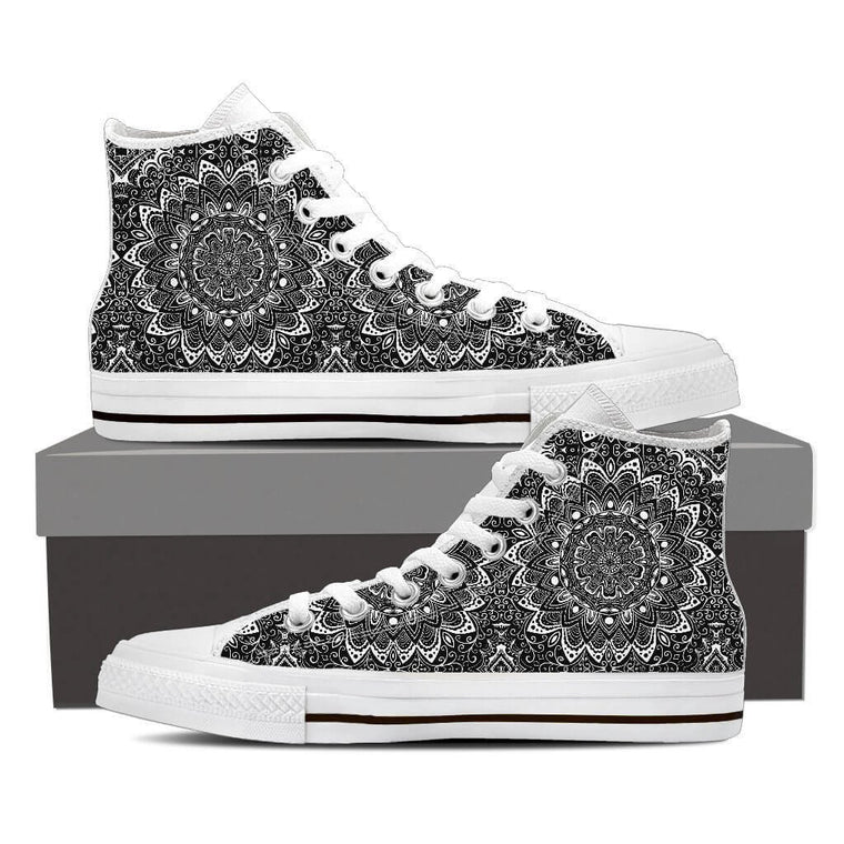 Black & White Mandala High Top