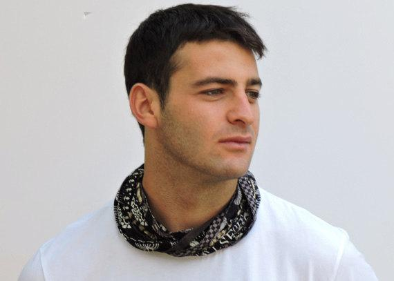 Black & White Men's Scarf