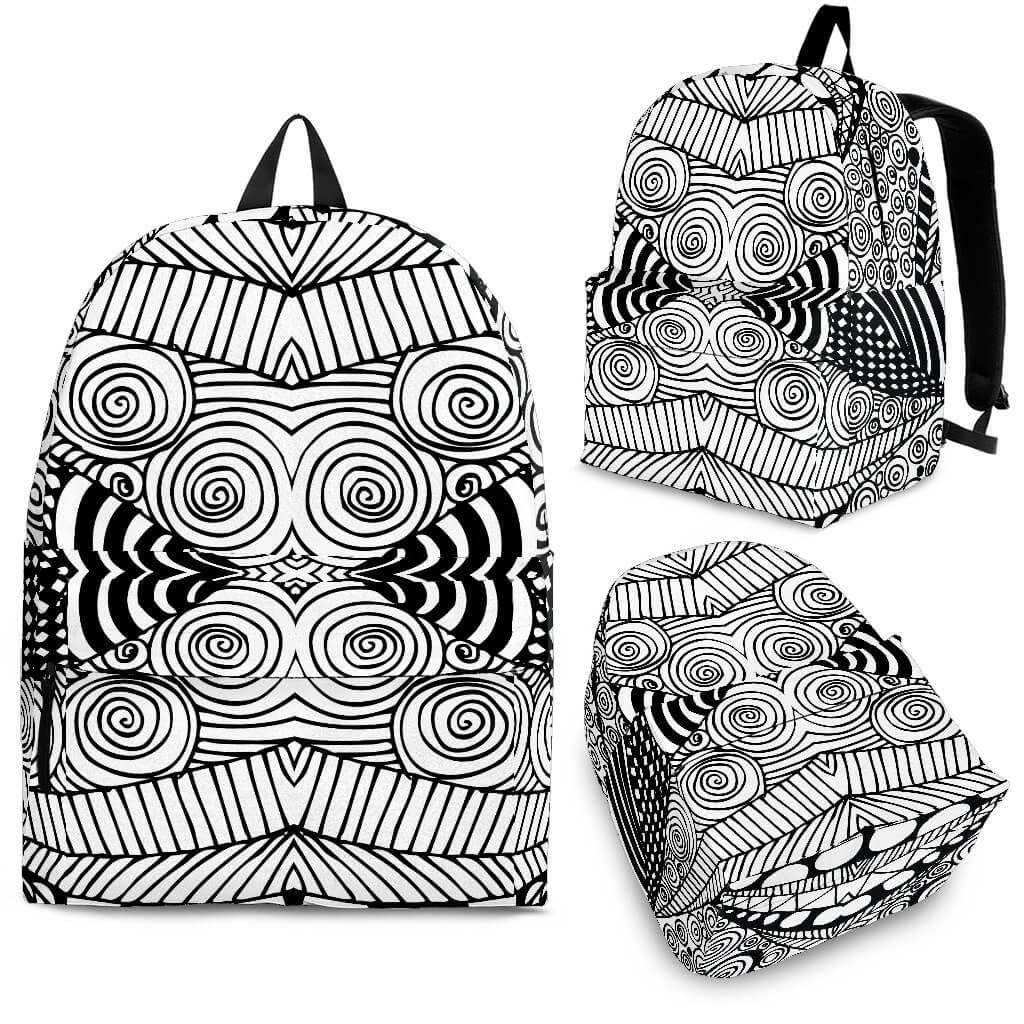Black & White Shape Backpack
