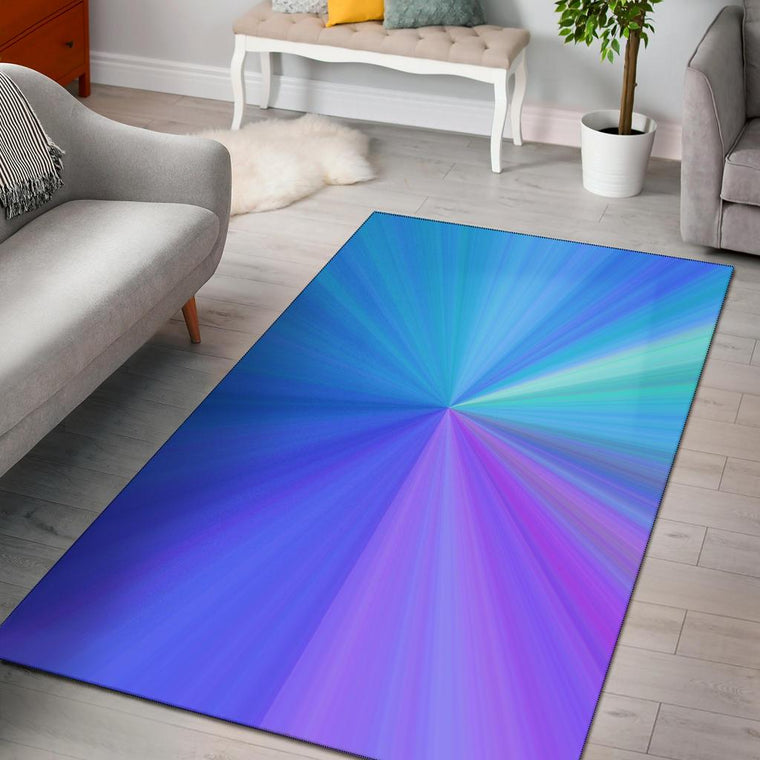 Blue Pink Power Area Rug