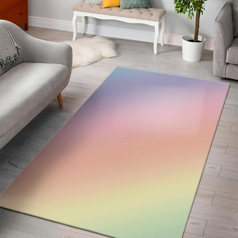 Bright Rainbow Area Rug