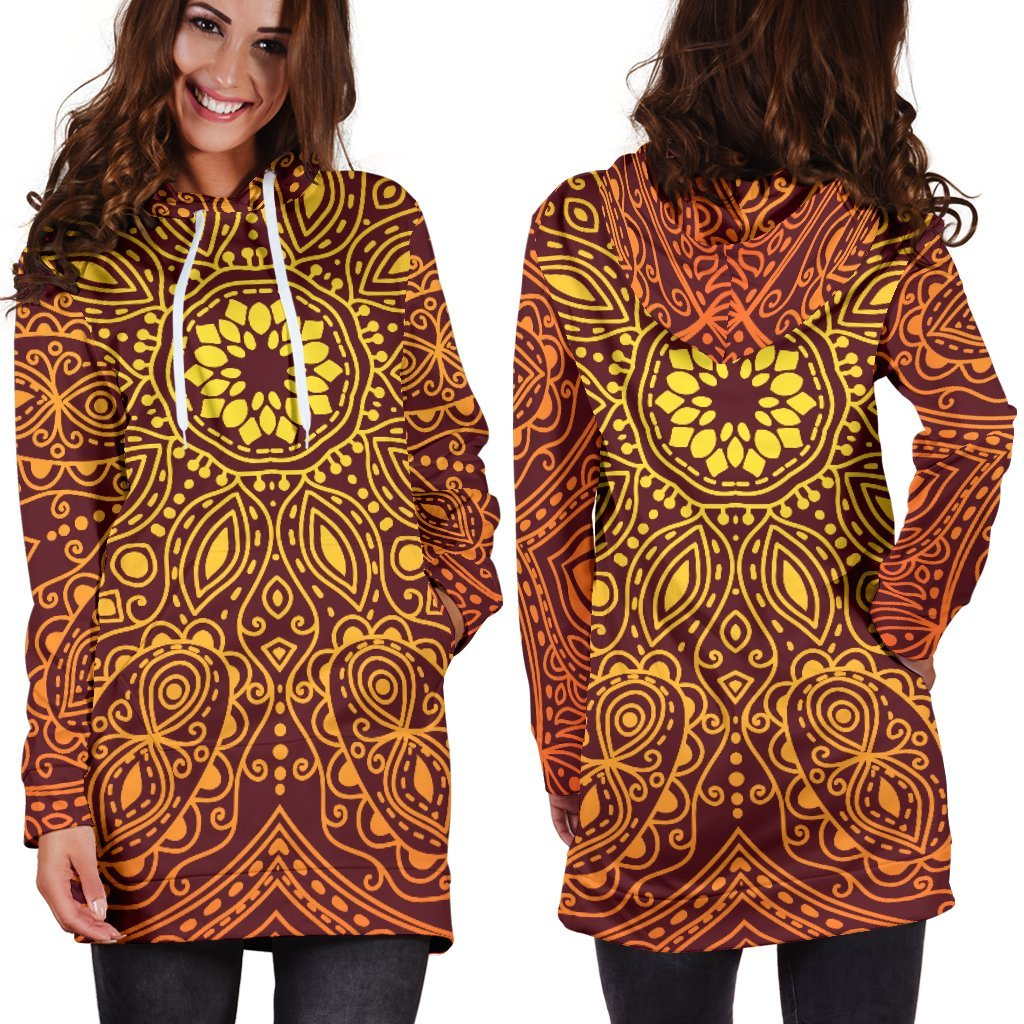 Bright Your Day Mandala Hoodie Dress