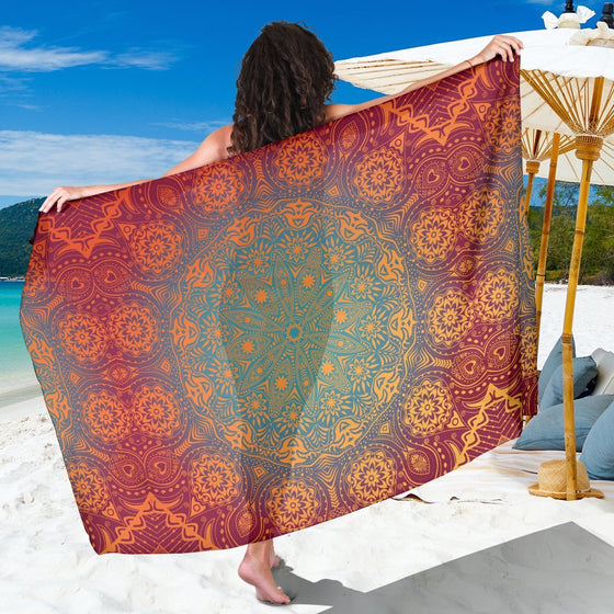 Bright Your Day Mandala Sarong