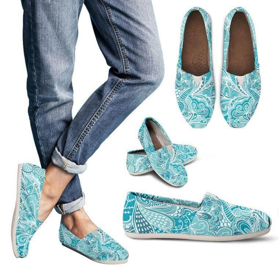 Calm In Blue Casual Shoes !