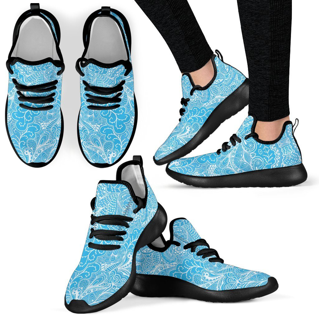 Calm In Blue Mesh Knit Sneakers