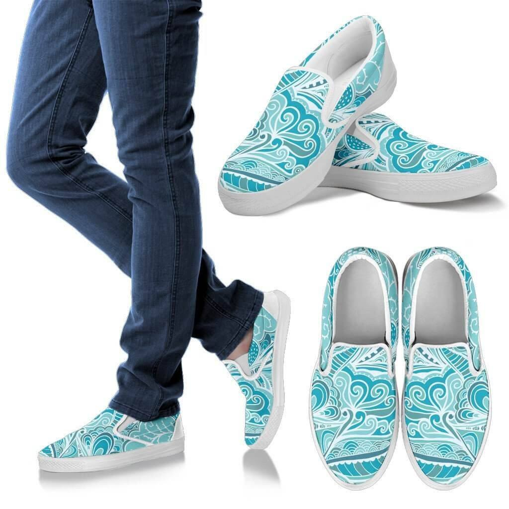 Calm In Blue Slip Ons