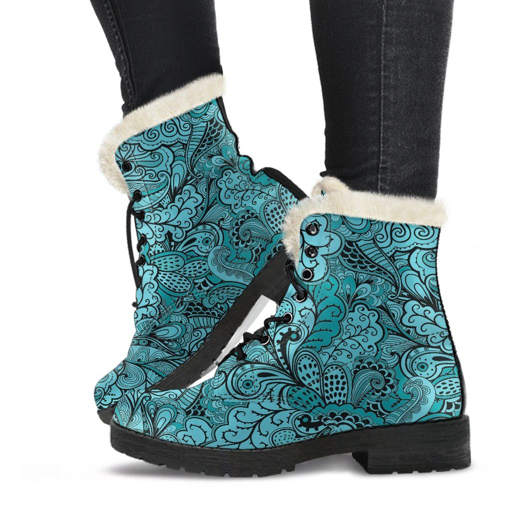 Calm In Blue Winter Boots