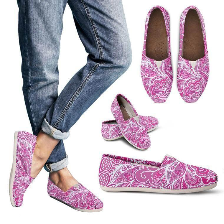 Calm In Pink Casual Shoes