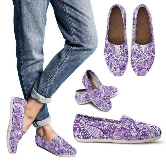 Calm In Purple Casual Shoes