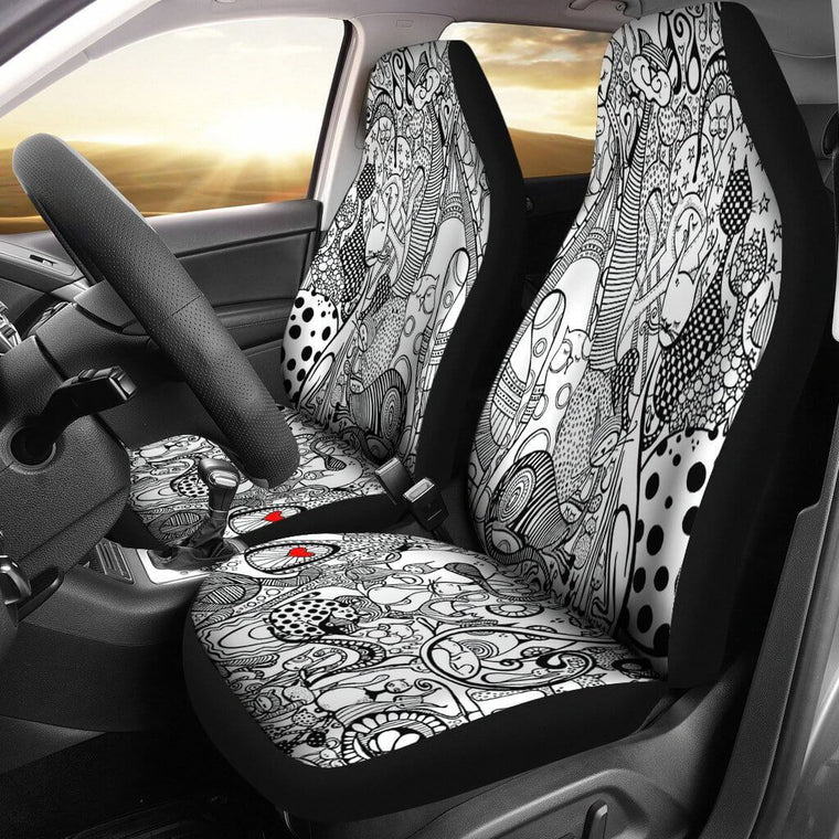 Cats Story Car Seat Covers