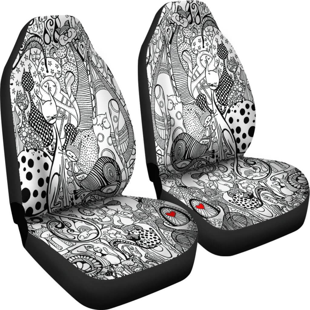 Cats Story Car Seat Covers Your Amazing Design