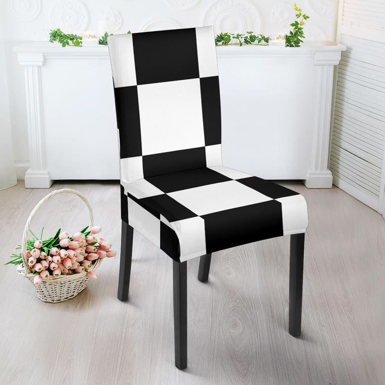 Chessboard Dining Chair Slipcover