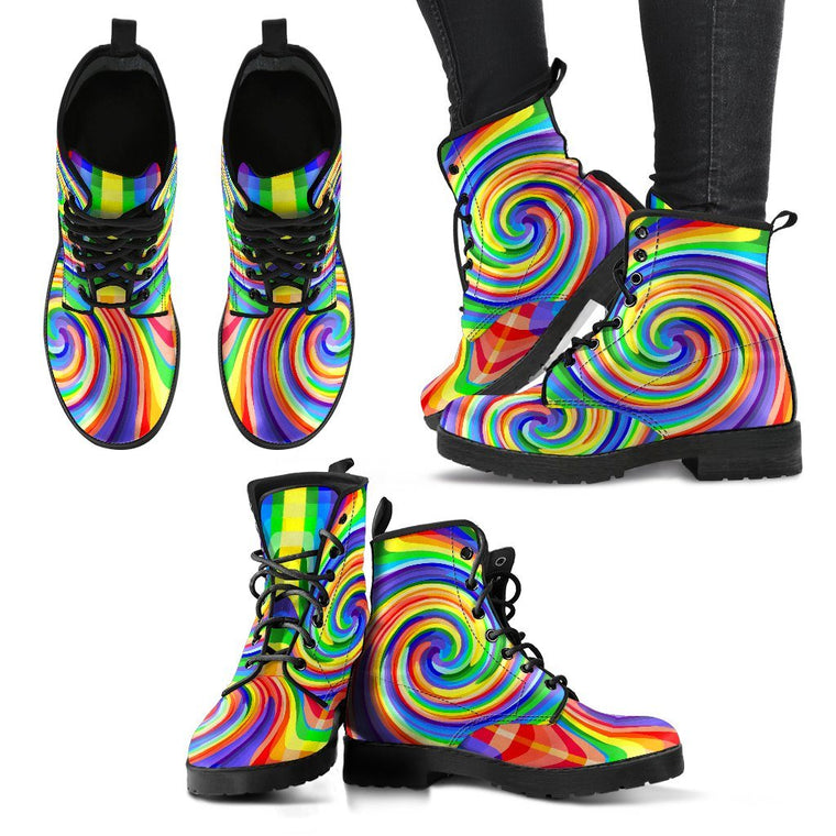 Color Spiral Women's Boots