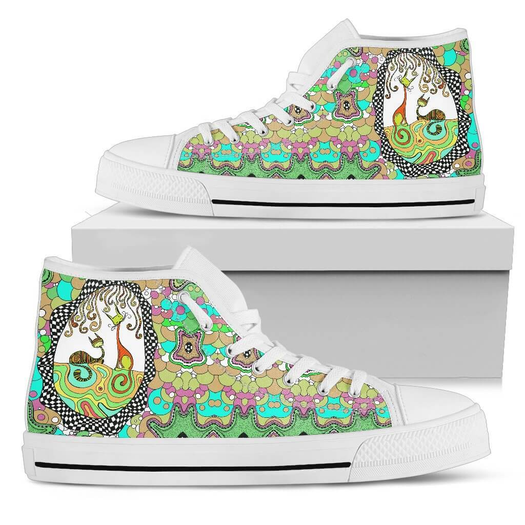 Colorful Cats High Top