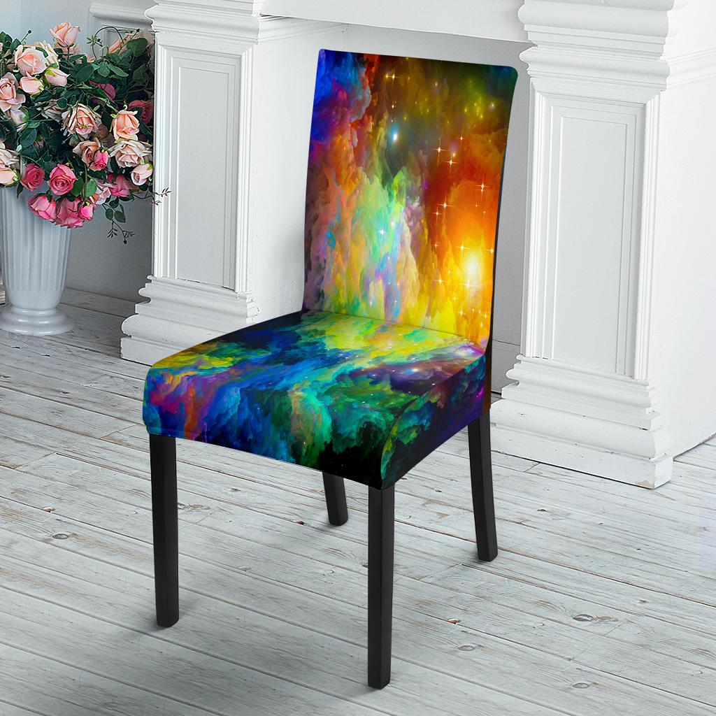 Colorful Galaxy Dining Chair Slipcover