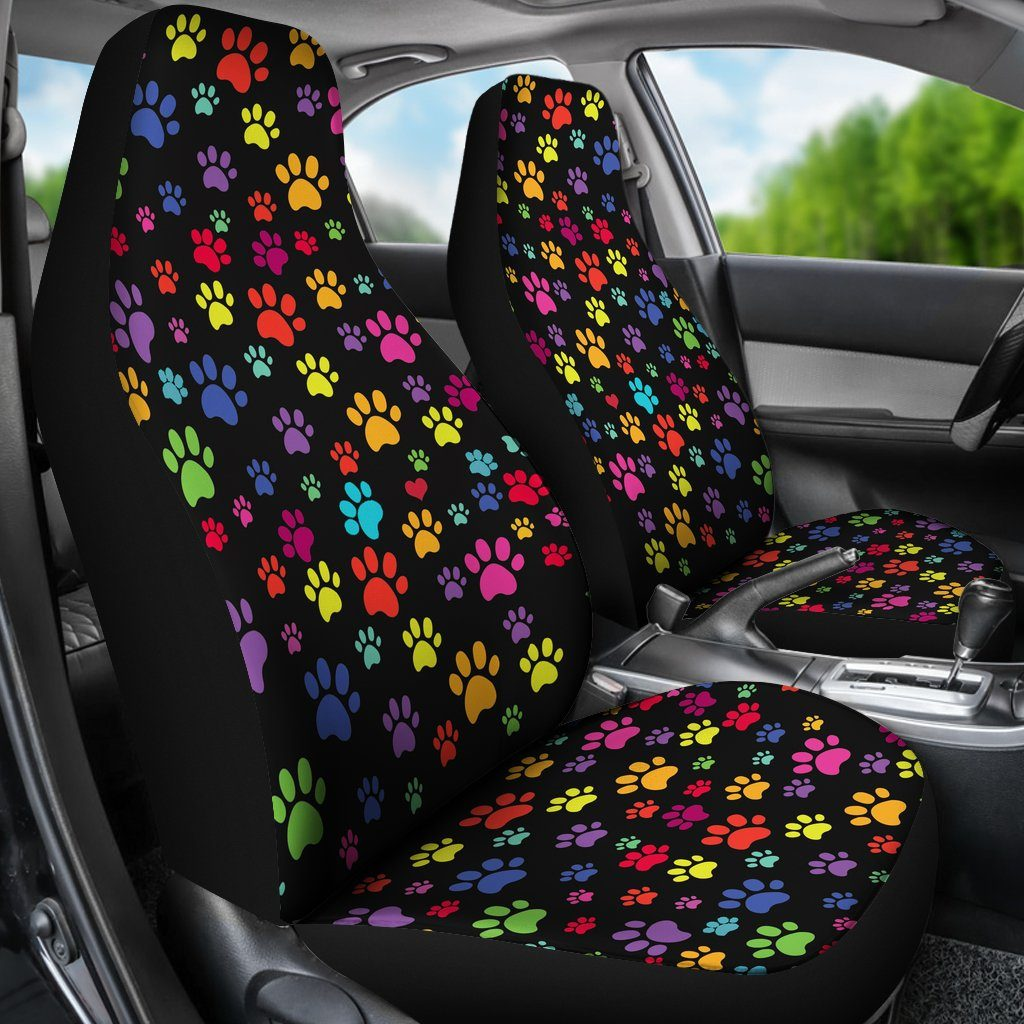 Colorful Paws Car Seat Covers