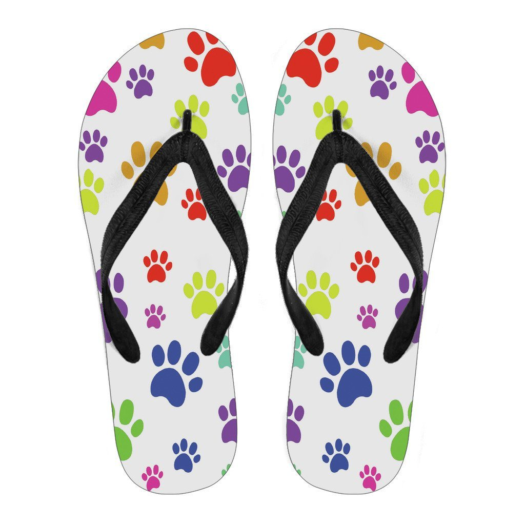 Colorful Paws Flip Flops