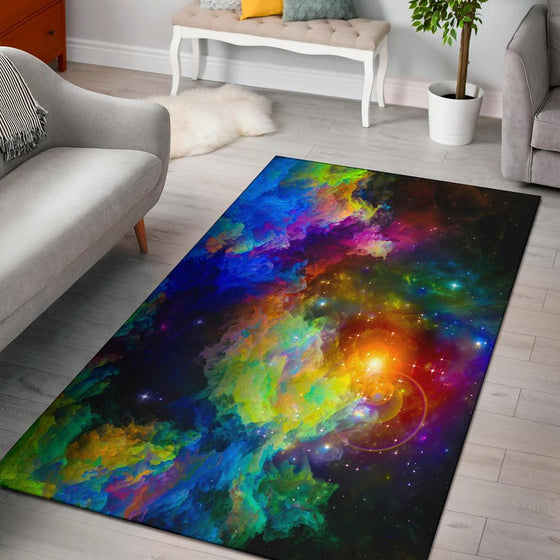 Colorful Universe Area Rug