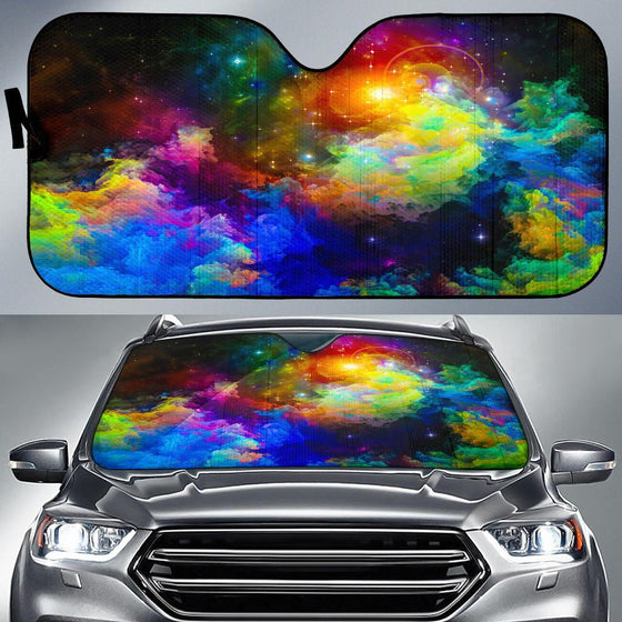 Colorful Universe Auto Sun Shade