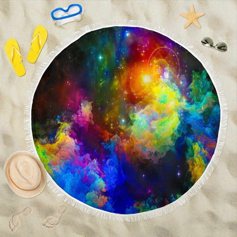 Colorful Universe  Beach Blanket