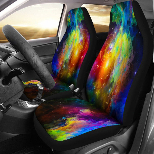 Colorful Galaxy Unique Car Seat Covers Your Amazing Design