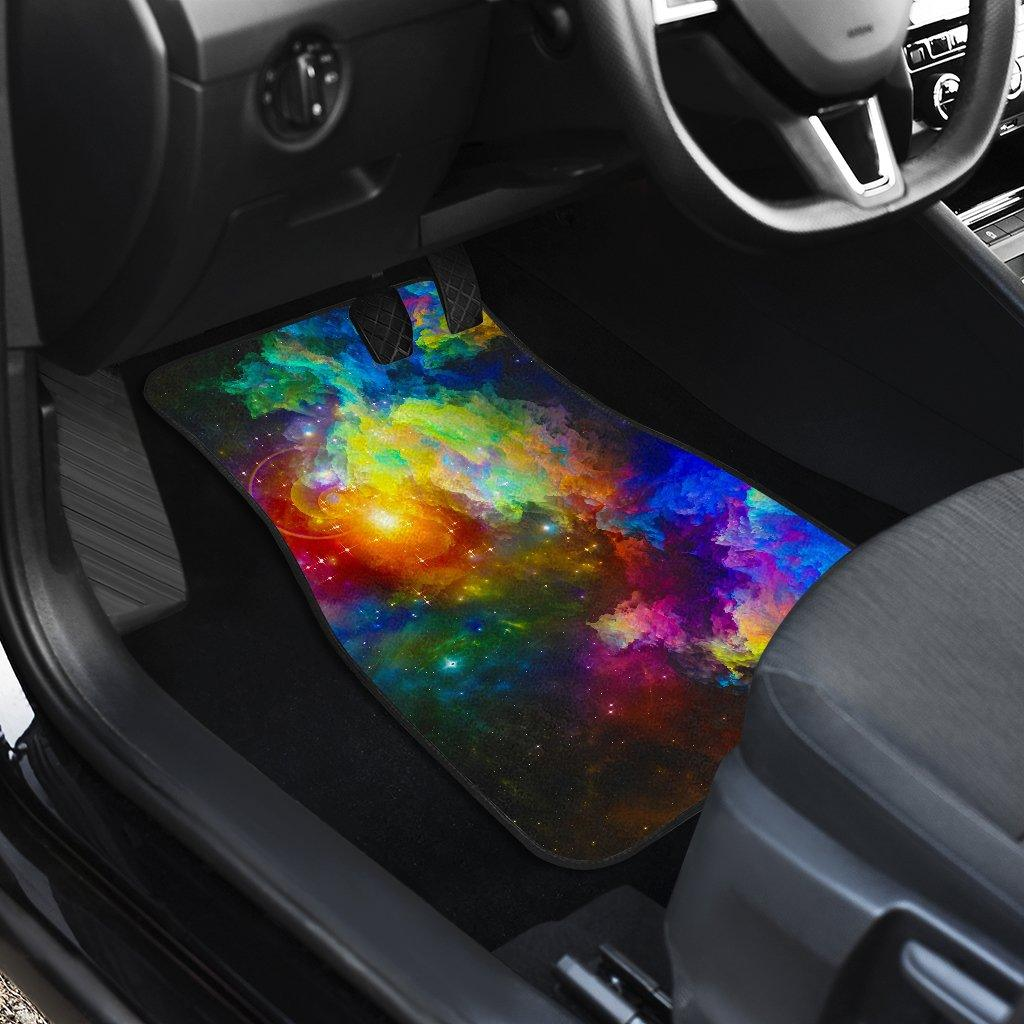 Colorful Universe Cat Floor Mats