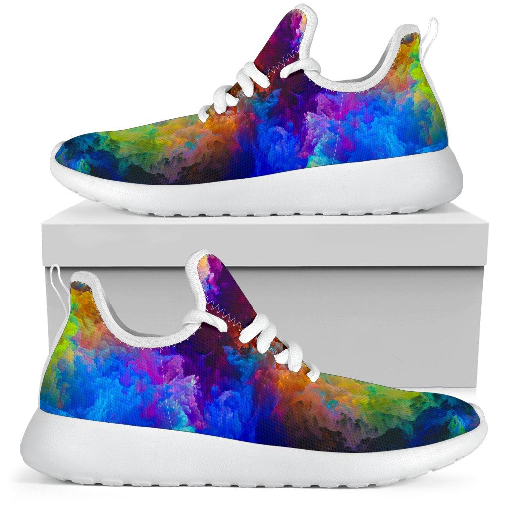 Colorful Universe Mesh Knit Sneakers
