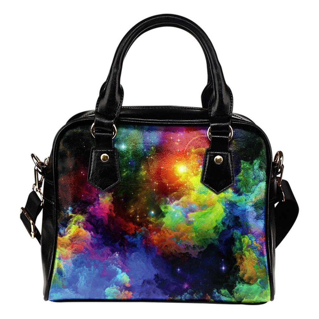 Colorful Universe Shoulder Handbag