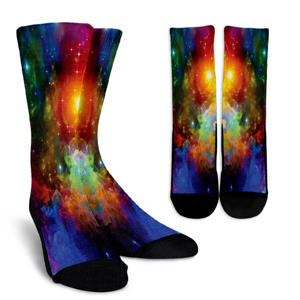Colorful Universe Socks