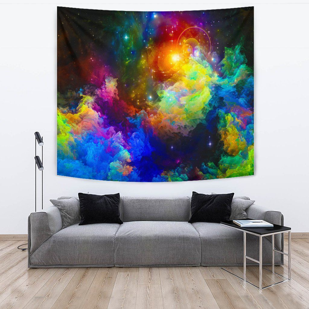 Colorful Universe Wall Tapestry