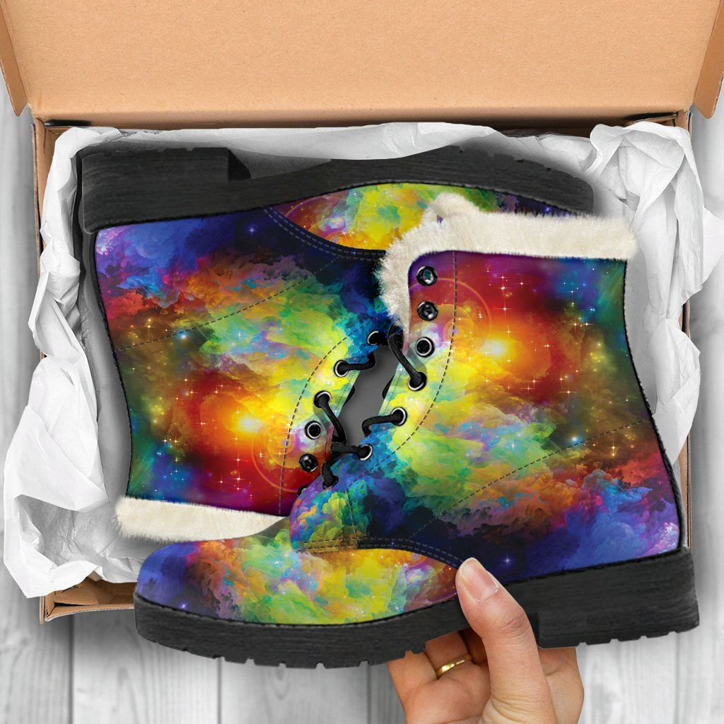Colorful Universe Winter Boots