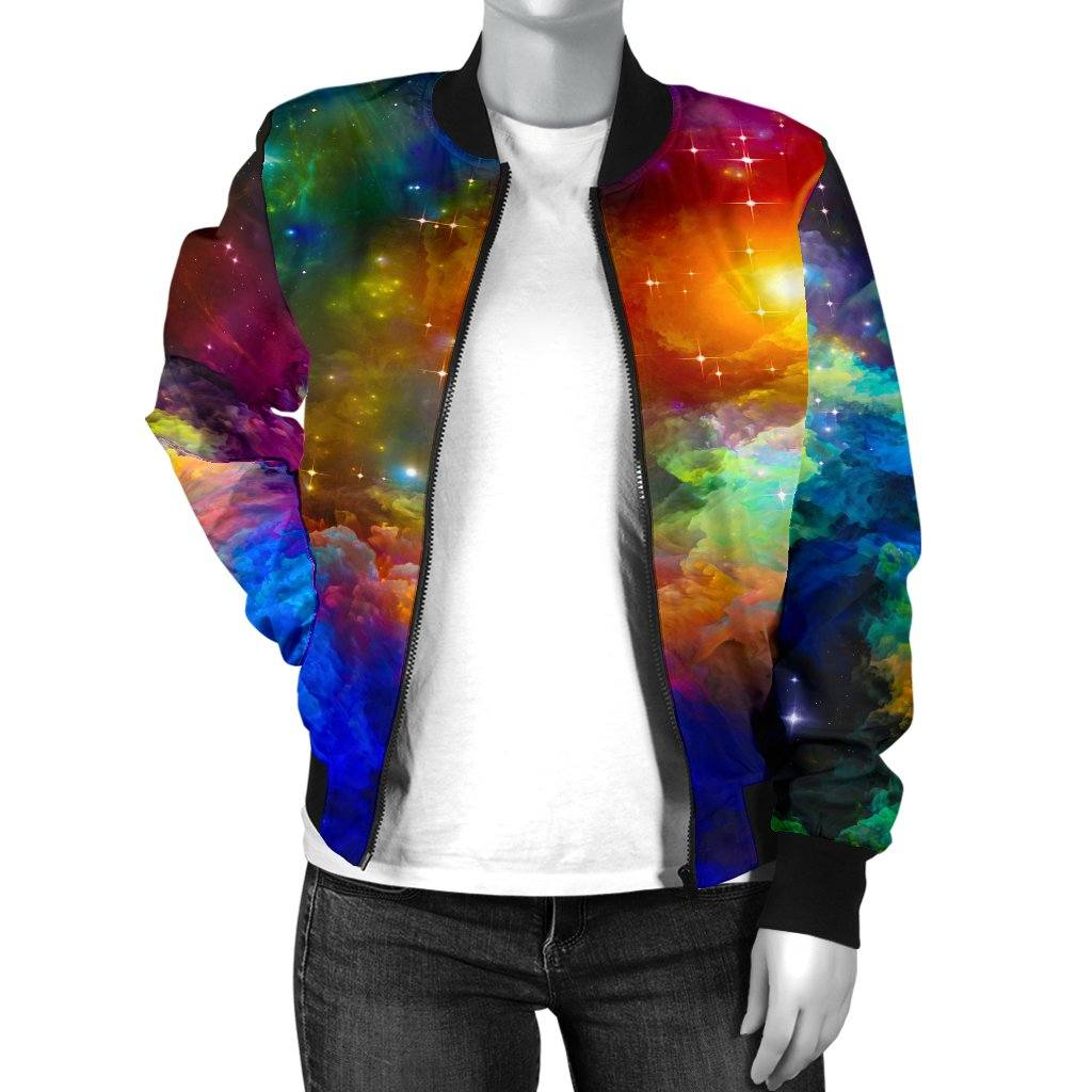 Colorful Universe Women's Bomber Jacket