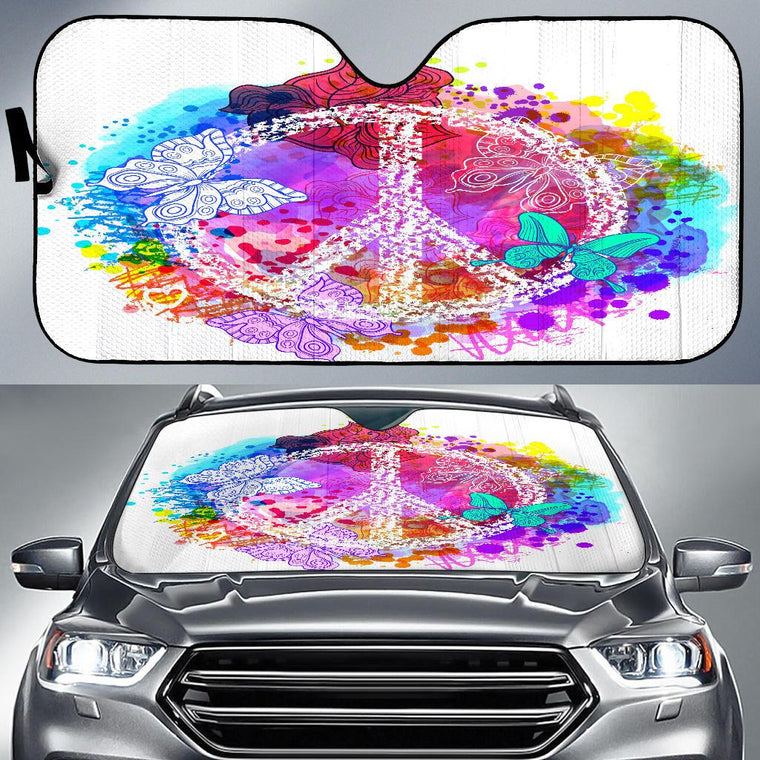 Colors Of Peace Auto Sun Shade