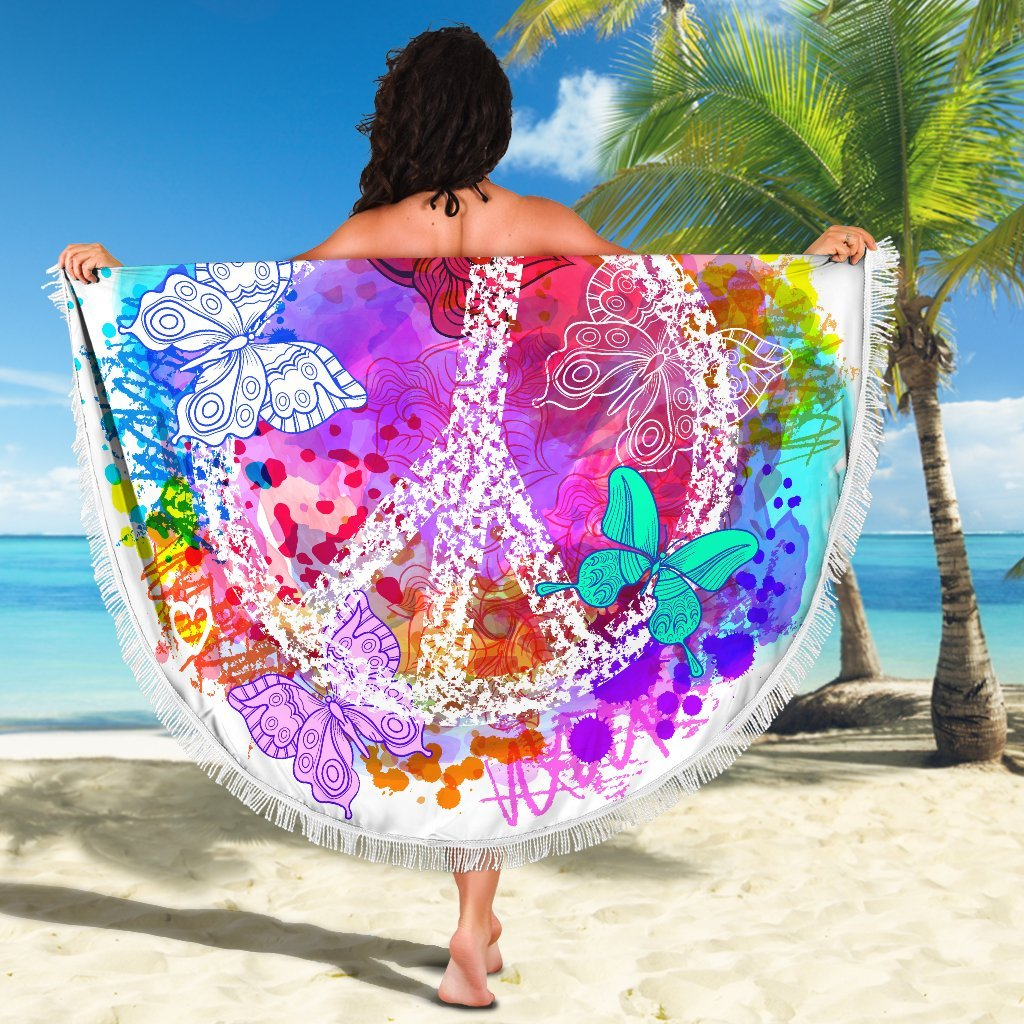 Colors Of Peace Beach Blanket