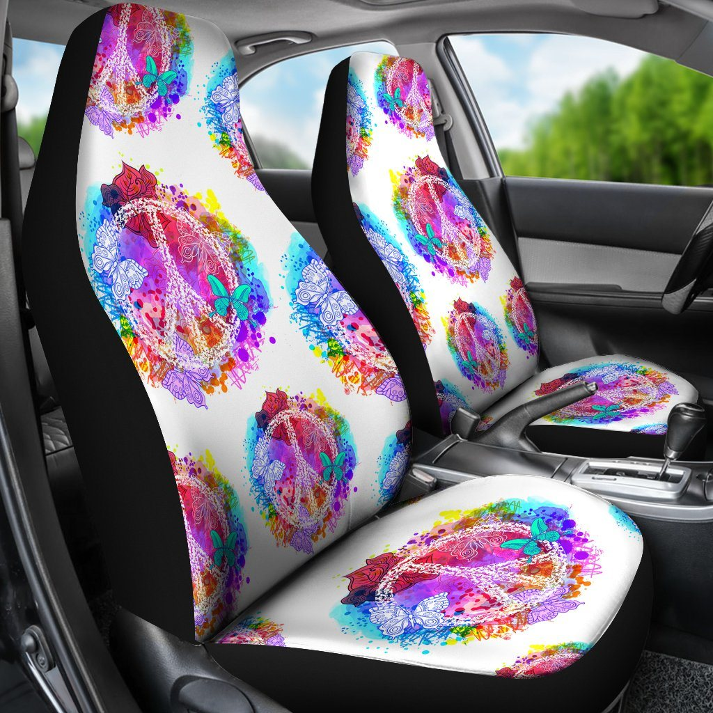 Colors Of Peace Car Seat Covers