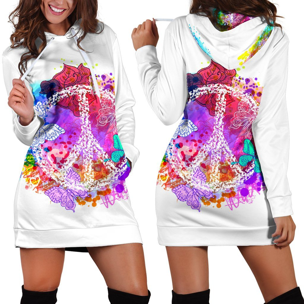 Colors Of Peace Hoodie Dress