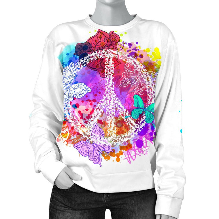 Colors Of Peace Women's Sweater