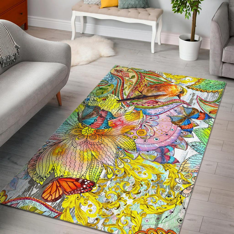 Colors Of Spring Area Rug