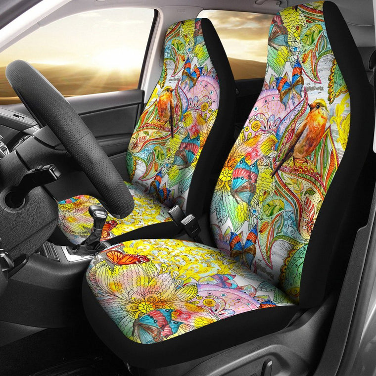 Colors Of Spring Car Seat Covers