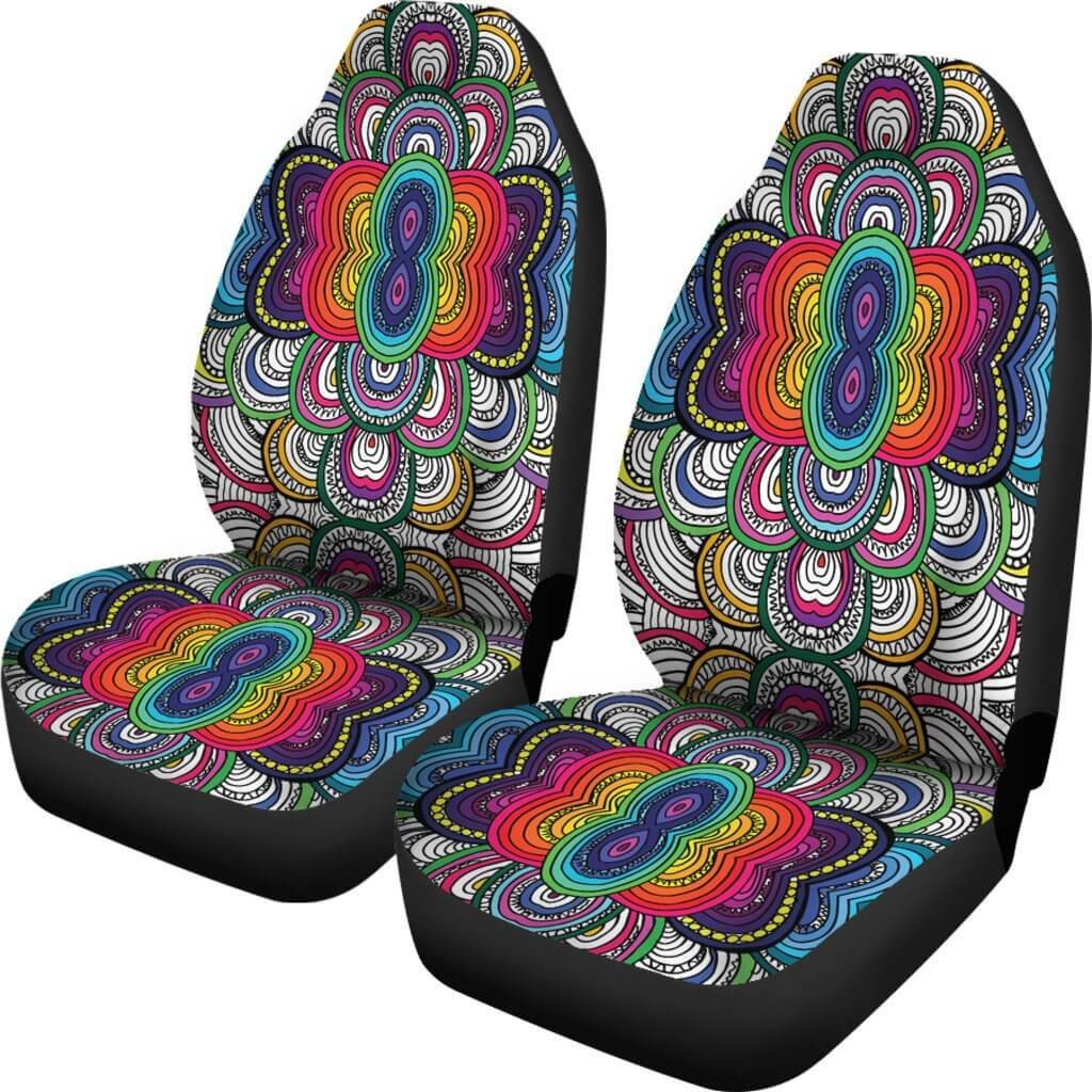 Dance Of Colors Car Seat Covers - Your Amazing Design