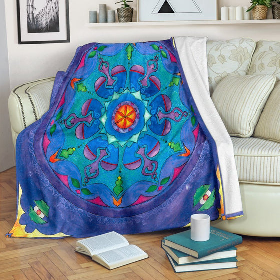 Dance Of The Heart Mandala Premium Blanket
