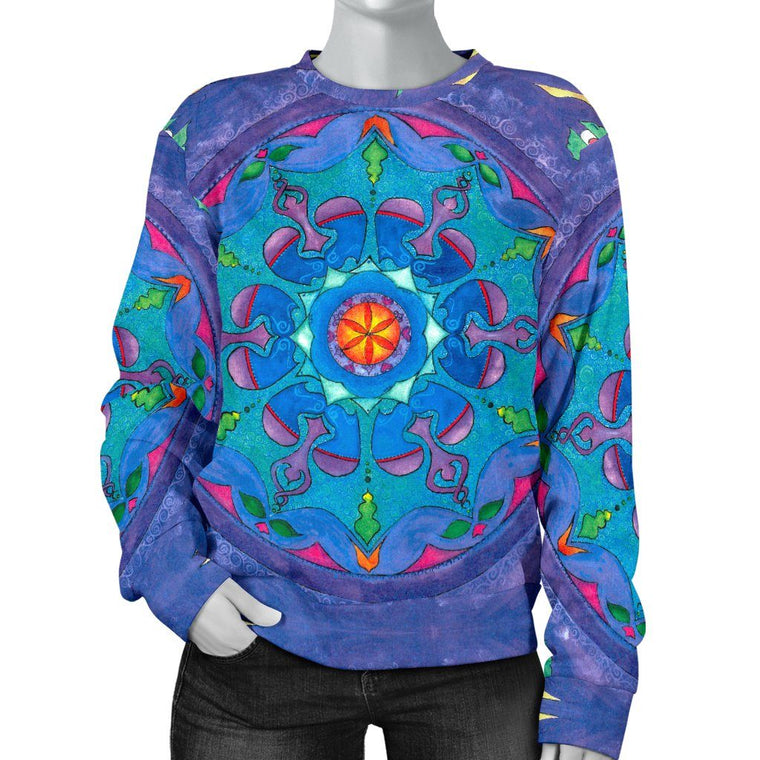 Dance Of The Heart Mandala Sweater