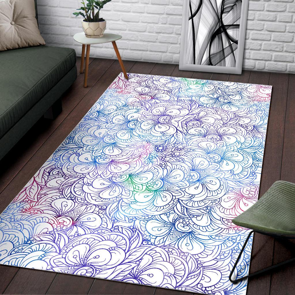 Delicate Flowers Area Rug