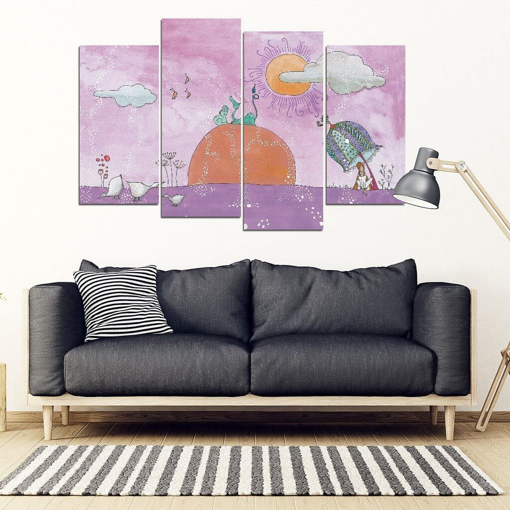 Dream Land 4 Piece Wall Art